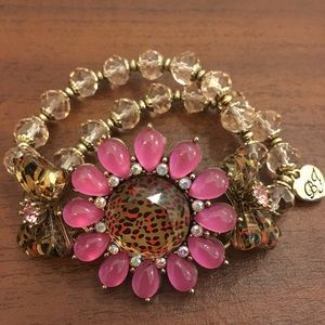 Betsey Johnson Flower Bracelet